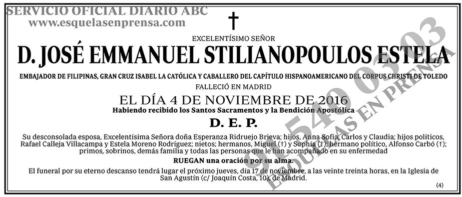 José Emmanuel Stilianopoulos Estela